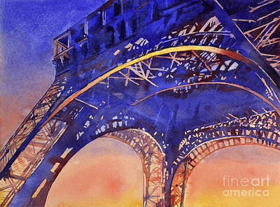 Colors Of Paris- Eiffel Tower Poster by Ryan Fox