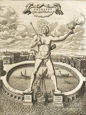 Colossus Of Rhodes, 17th-century Artwork Poster by Asian And Middle Eastern Division