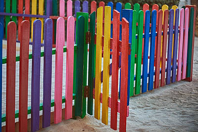 Colourful Caribbean Fence Poster by Eti Reid