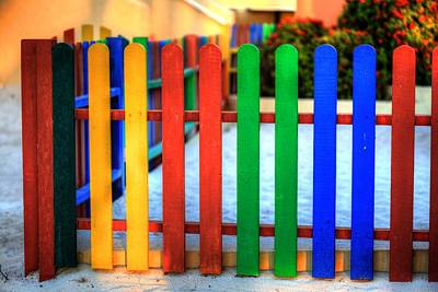 Colourful Caribbean Fence II Poster by Eti Reid