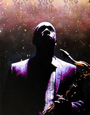Coltrane II - Coltrane Harder Poster by Bobby Zeik