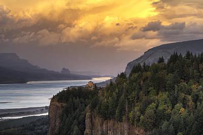 Columbia River Gorge Vista Poster by Mark Kiver