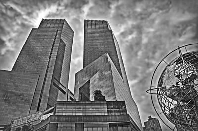 Columbus Circle - B/w Poster by Hanny Heim