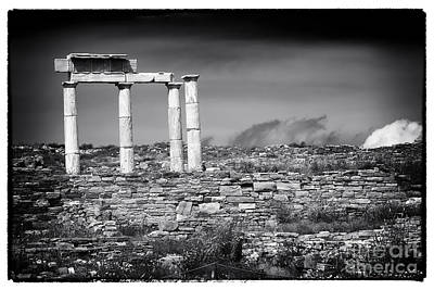 Columns Of History On Delos Island Poster by John Rizzuto