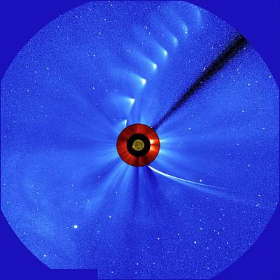 Comet Ison Poster by Esa/soho/sdo/nasa
