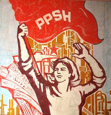 Communist Worker Poster by Pandi Mele
