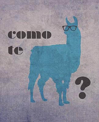 Como Te Llamas Humor Pun Poster Art Poster by Design Turnpike