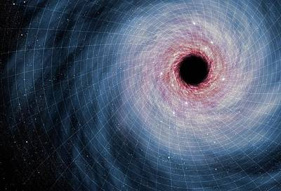 Computer Artwork Of Black Hole Poster by Mark Garlick
