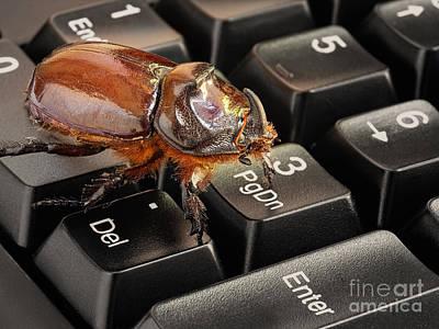 Computer Bug Poster by Sinisa Botas