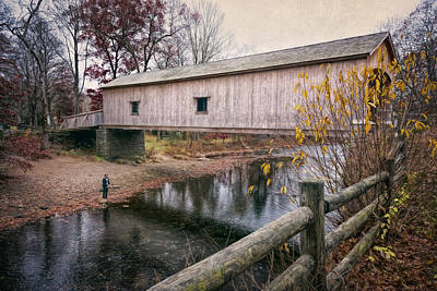 Comstock Covered Bridge Poster by Joan Carroll