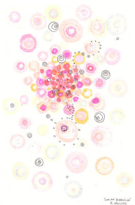 Concave Bubblegum Poster by Regina Valluzzi