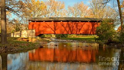 Conestoga River Reflections Crop Poster by Adam Jewell