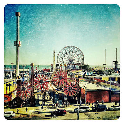Coney Island Amusement Poster by Natasha Marco