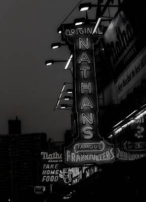 Coney Island Noir Poster by Jon Woodhams