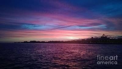 Coney Island Summertime Sunset Poster by John Telfer