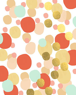 Confetti- Abstract Art Poster by Linda Woods