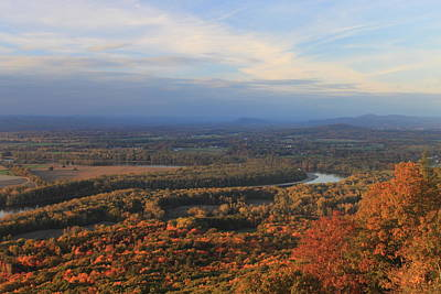 Connecticut River Valley In Autumn From Mount Holyoke Poster by John Burk