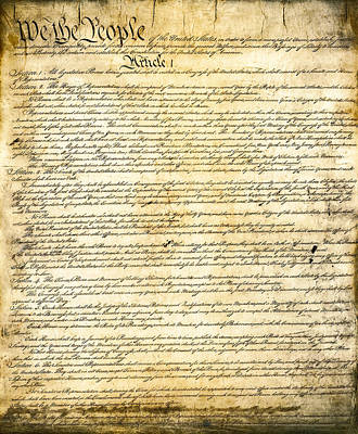 Constitution Of The United States Poster by Daniel Hagerman