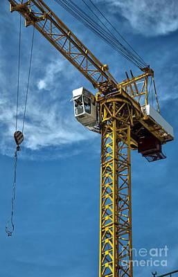 Construction Crane Asia Poster by Antony McAulay
