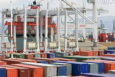 Container Port Poster by Jim West