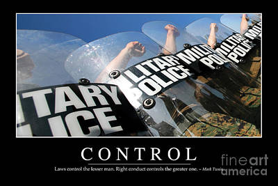 Control Inspirational Quote Poster by Stocktrek Images