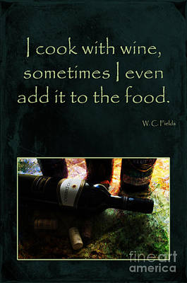 Cook With Wine Poster by Randi Grace Nilsberg