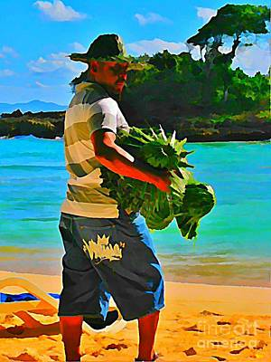 Cool Beach Merchant Poster by John Malone