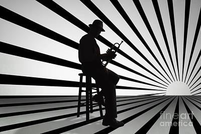 Cool Jazz 2 Poster by Bedros Awak