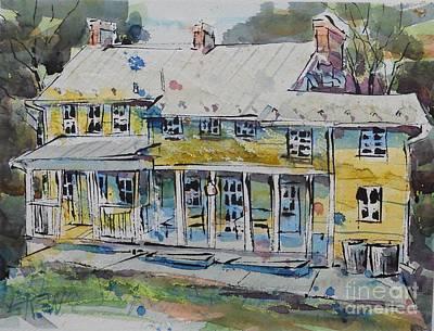 Cool Springs Farm Farmhouse Poster by Larry Lerew