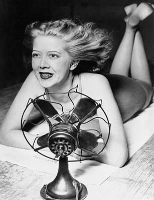 Cooling Fan For Hot Spell Poster by Joe Denarie
