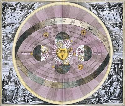 Copernican Worldview, 1708 Poster by Science Photo Library