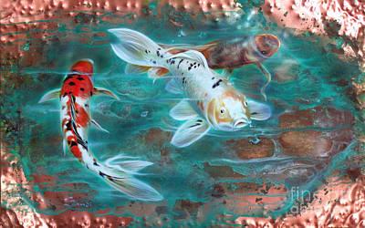 Copper Koi Poster by Sandi Baker