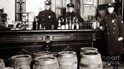 Cops At The Bar Poster by Jon Neidert