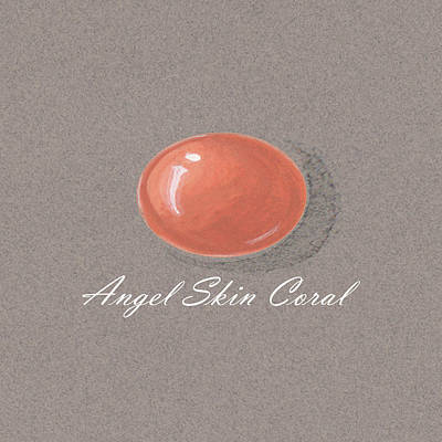Coral Cabochon Poster by Marie Esther NC