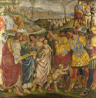 Coriolanus Persuaded By His Family To Spare Rome Poster by Luca Signorelli