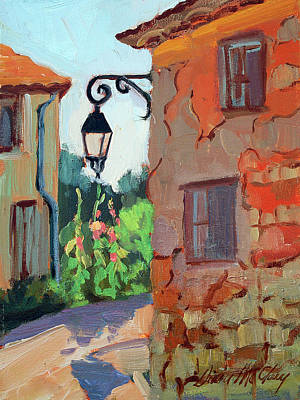 Street Corner In St. Colombe Poster by Diane McClary