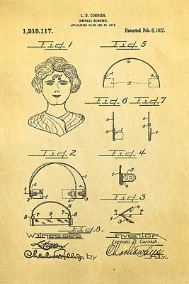 Cornish Wrinkle Remover Patent Art 1917 Poster by Ian Monk