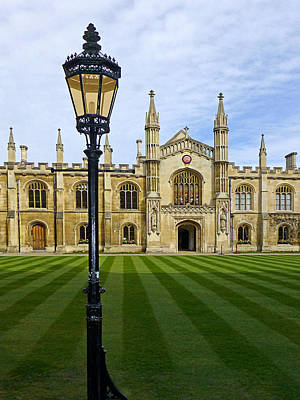 Corpus Christi College Cambridge Poster by Gill Billington
