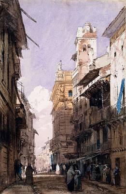 Corso Saint Anastasia, Verona Poster by Richard Parkes Bonington