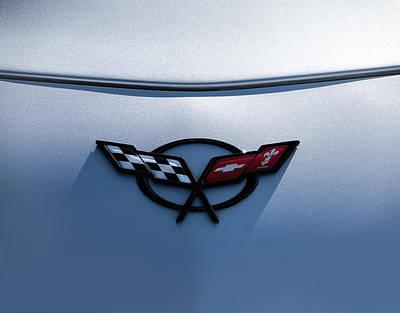 Corvette C5 Badge Poster by Douglas Pittman