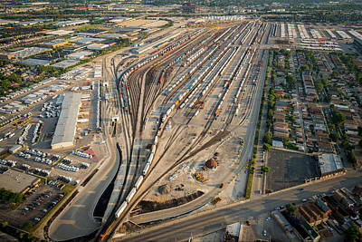 Corwith Intermodal Rail Yard Chicago Poster by Steve Gadomski