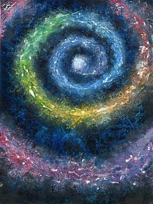 Cosmic Spiral Poster by Melinda DeMent