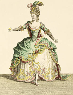 Costume For Venus In Several Operas Poster by Jean Baptiste Martin