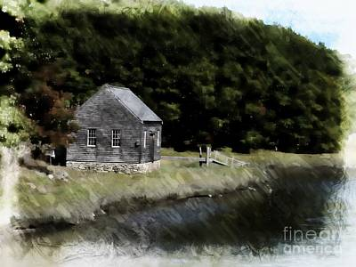Cottage In The Woods Poster by Marcia Lee Jones