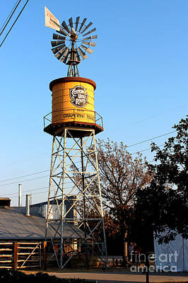 Cotton Belt Route Water Tower In Grapevine Poster by Kathy  White