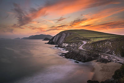 Coumeenole Sunset Poster by Florian Walsh