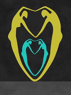 Couple Heart Poster by Naxart Studio