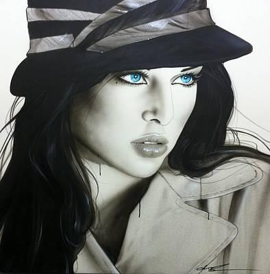 Portrait - ' Couture ' Poster by Christian Chapman Art