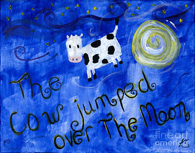 Cow Poster by Katy  Scott