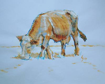 Cow Painting Poster by Mike Jory